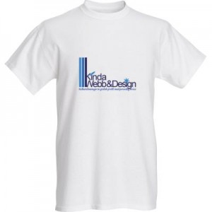 min logo på t-shirt