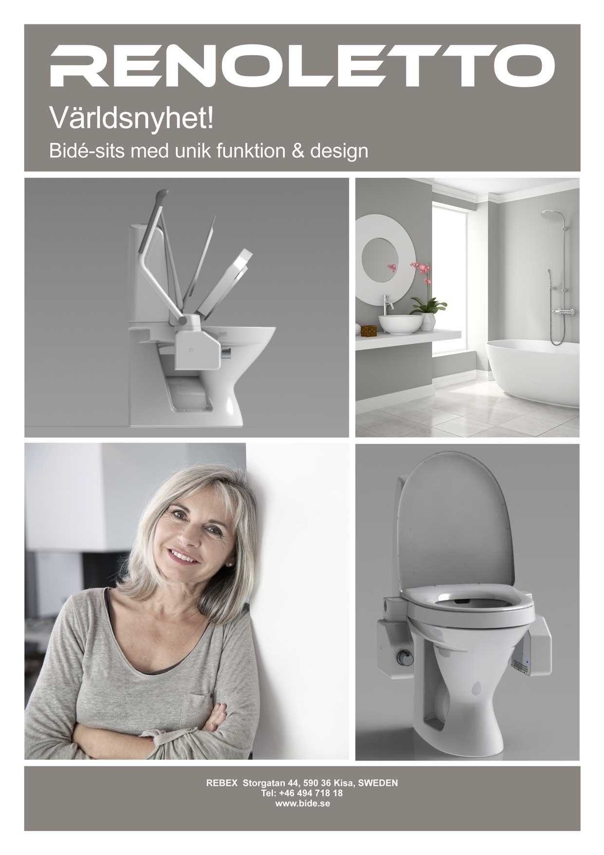 Rebex – broschyr av produkter till toalett för brukare